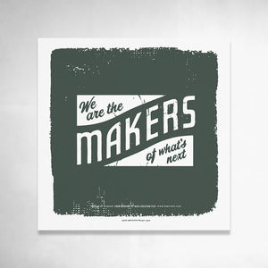 Image of Makers (Green) 9x9