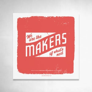 Image of Makers (Red) 9x9