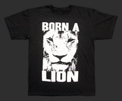 "Image of ""Born A Lion"" Men's T-Shirt - Black"