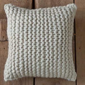 Image of Chunky Knit Baby Alpaca Pillow