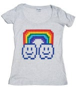 Image of 8 Bit Apparel Rainbow Cloud Ladies Scoop Neck