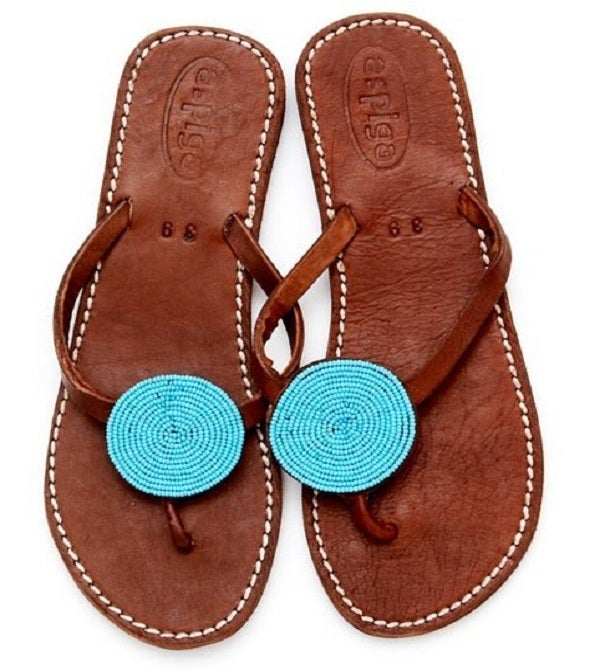 Image of Aspiga Leather &quot;Disc&quot; Sandals