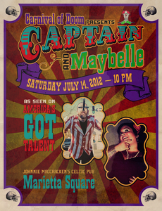 Image of Carnival of Doom presents Captain &amp; Maybelle at MacCracken's