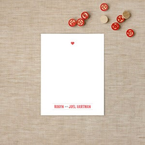 Image of Stamped Heart Flat Note Cards