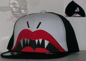 "Image of I'MTD ""Lovely Fang"" Black/White Snapback Hat Cap"