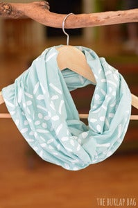Image of infinity scarf - blue diamonds