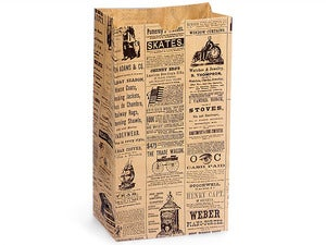 Image of Gift Sacks - Newsprint - 20 pack