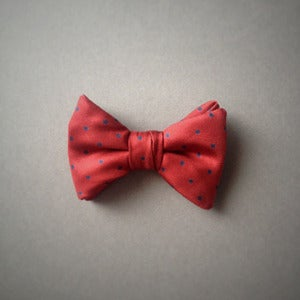 Image of Boys Red & Navy Polkadot