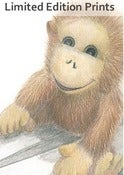 Image of Monkey Mischief - Framed or Unframed Print.