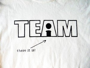 Image of THERE'S NO I IN TEAM WAIT THERE IT IS T-SHIRT OR TANK