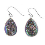 Image of Rainbow Druzy Crystal Earrings