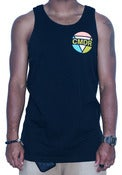 Image of COLOR BLOCK TANK IN BLACK AS NIGHT