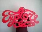Image of Explore wood cutout