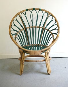 Image of FAUTEUIL EN ROTIN VINTAGE ANNES 60 - REF.939