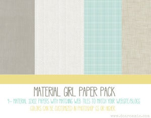 Image of Material Girl Paper Pack