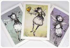Image of 3 Fairy Dragonfly Lady Cards by the Filigree