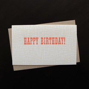 Image of 1207 - buckaroo letterpress birthday card