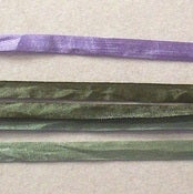 "Image of Hand Dyed 1/4"" (7mm) Silk Ribbon"
