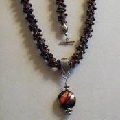 Image of Kumihimo 2 Strand Drop Bead Necklace and Bracelet Kit