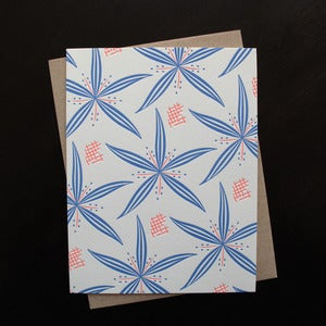 Image of 1819B - lily letterpress note cards - set of 6