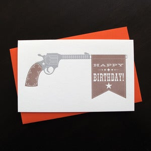 Image of 1217 - son of a gun letterpress birthday card