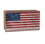 Image of Vintage American Flag Matchbox