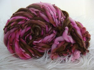 Image of Handspun Merino Yarn - Pink Cow