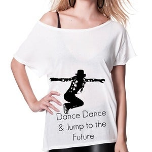 Image of T-shirt femme Dance Dance - wide neck tee