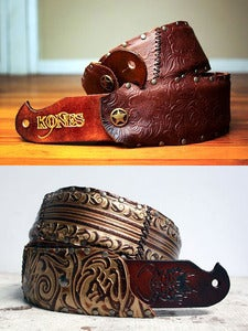 Image of Custom Leather Guitar Strap, One of a Kind ALWAYS. Any Length.