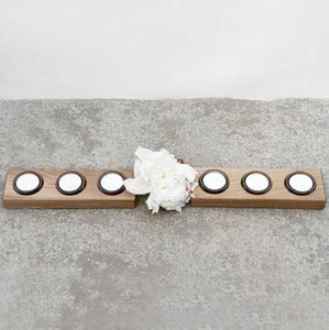 Image of Solid Oak Tea light Runners (Pair)