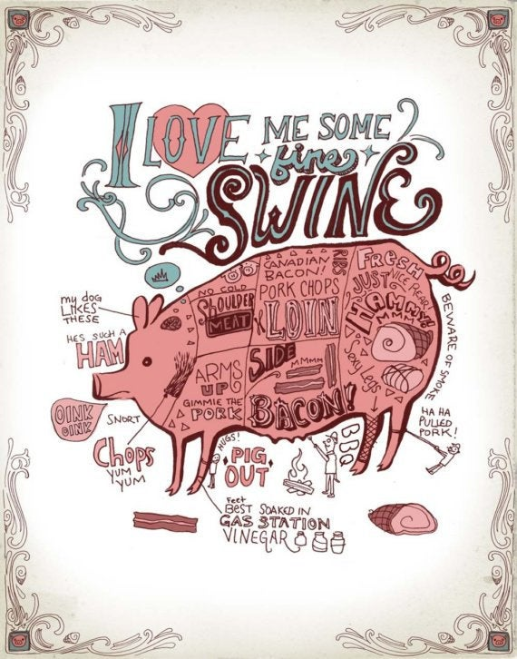 I Love Me Some Fine Swine-Art Print