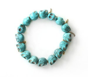 Image of Skull & Chain Bead Bracelet