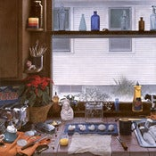 "Image of Bellows Print ""Kitchen Counter II (Dirty Dishes II)"" - small"