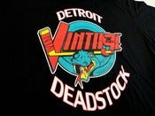 Image of Detroit Deadstock Vintage Vipers Logo Flip Black Tee Shirt