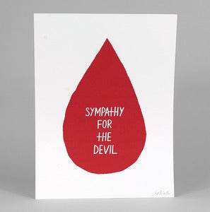 Image of SYMPATHY FOR THE DEVIL Print