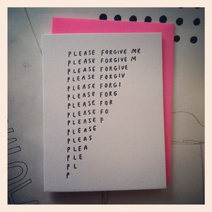Image of FORGIVE ME Card