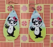 Image of Outdoor Cutie Pie Panda Earrings (sold out)