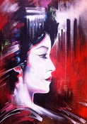 Image of Tokyo Lady - original painting on wooden board