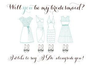 Image of Will You Be My Bridesmaid Card