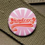 Image of Yandere anime trope button badge