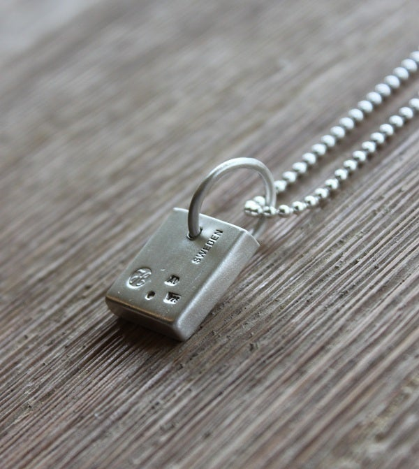 Image of Sterling Silver Bar (Small) Necklace