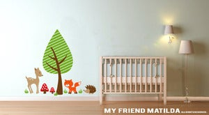 Image of Woodland Friends Wall Decal Sticker M005