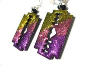 Image of Super Sparkling Razor earrings