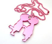 Image of Kissing Boy Cousins necklace
