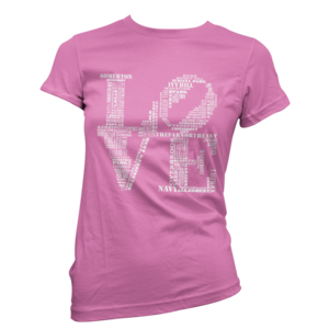 Image of Women's Aphillyated® LOVE Tee (Hot Pink)