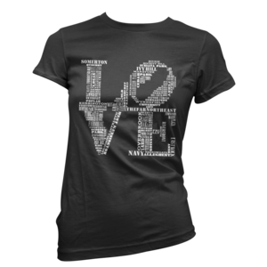 Image of Women's Aphillyated® LOVE Tee (Black/White)