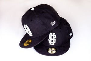 Image of The Monogram Fitted Cap in Black
