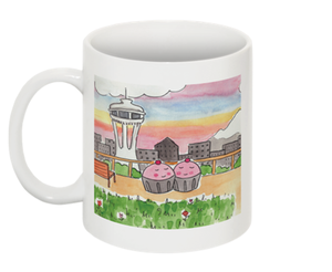 Image of MUGS: Space Needle Love Mug