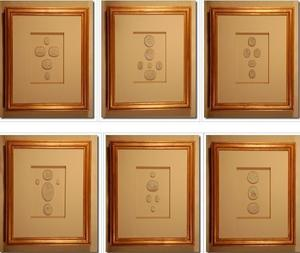 Image of Framed intaglios, set of six