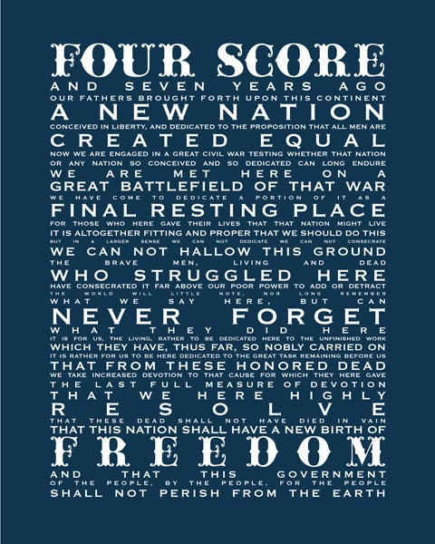 Image of Gettysburg Address-Flag